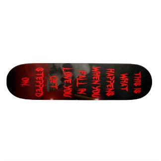 skelbloodwall skate deck