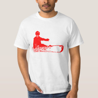 skeleboarder. red. T-Shirt