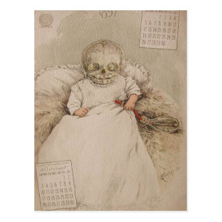 Skeletal Baby Postcard