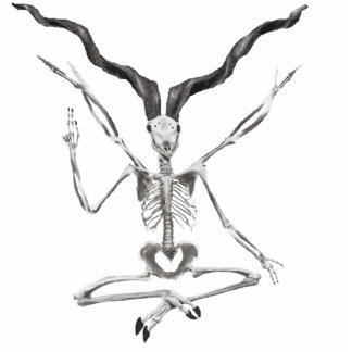 Skeletal Baphomet Photo Sculpture Magnet