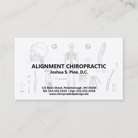 Skeletal Blueprint Chiropractic Appointment Cards