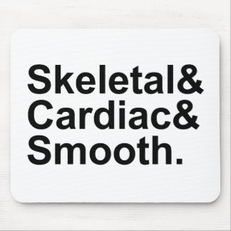 Skeletal Cardiac Smooth | 3 Types of Muscles Mouse Pad