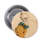 Skeletal Clown Button