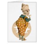 Skeletal Clown Greeting Card