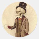 Skeletal Doctor Classic Round Sticker