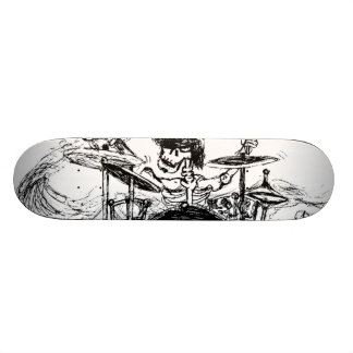 Skeletal Drummer Skateboard Deck