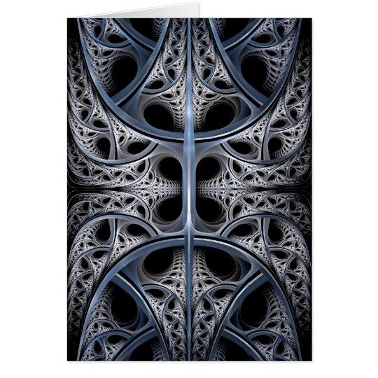 Skeletal Hall fractal art Card