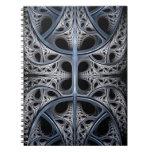 Skeletal Hall fractal art Note Book