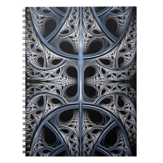 Skeletal Hall fractal art Notebook