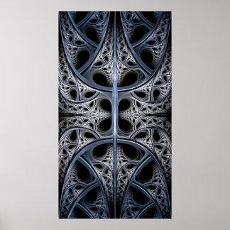 Skeletal Hall fractal art Poster