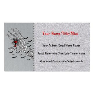 Skeletal Hand Of Love Business Card