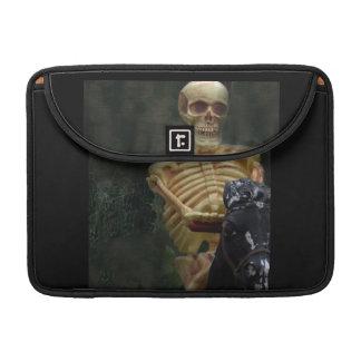 Skeletal Horseman Rides Fast MacBook Pro Sleeves