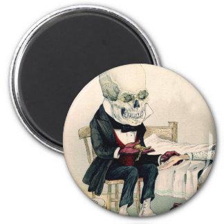 Skeletal Last Rites 2 Inch Round Magnet