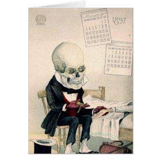 Skeletal Last Rites Greeting Cards