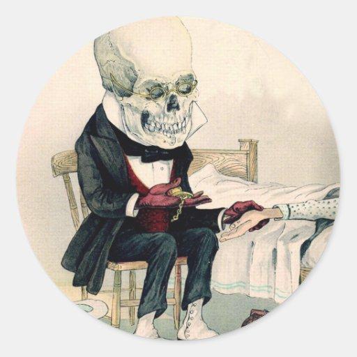 Skeletal Last Rites Classic Round Sticker