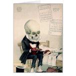 Skeletal Last Rites Greeting Card