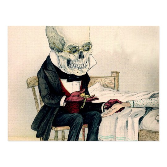Skeletal Last Rites Postcard