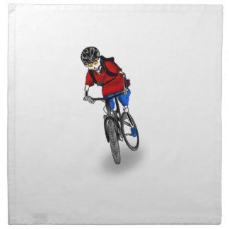 Skeletal Mountain Biker Cloth Napkin