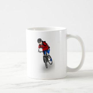 Skeletal Mountain Biker Coffee Mug