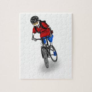 Skeletal Mountain Biker Jigsaw Puzzle