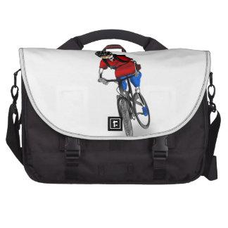 Skeletal Mountain Biker Laptop Commuter Bag