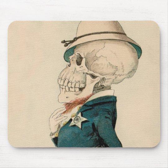 Skeletal Officer Mouse Pad
