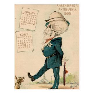 Skeletal Officer Postcard