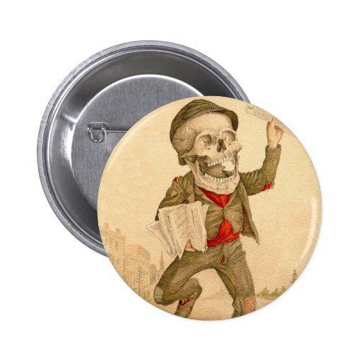 Skeletal Paperboy 2 Inch Round Button