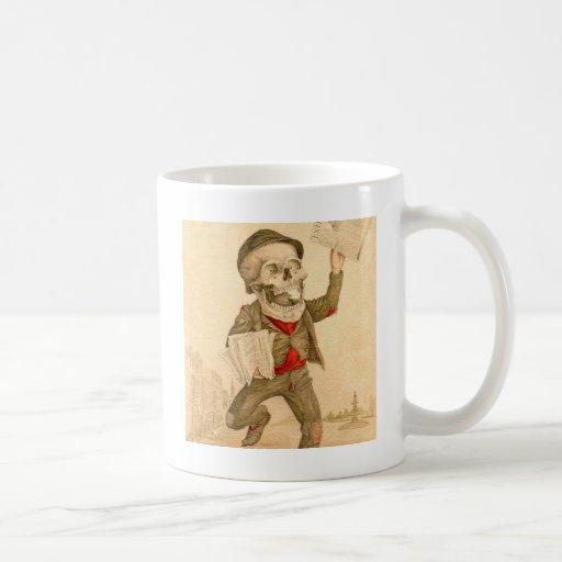 Skeletal Paperboy Coffee Mug
