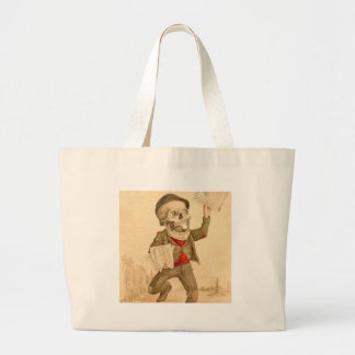 Skeletal Paperboy Large Tote Bag