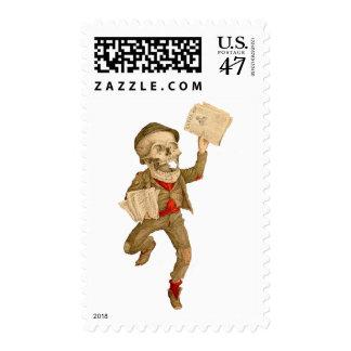 Skeletal Paperboy Postage