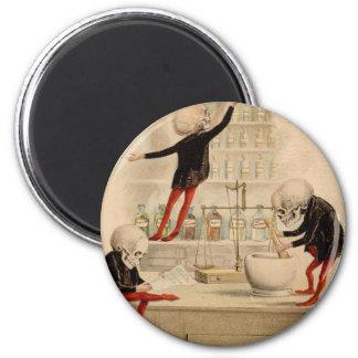 Skeletal Pharmacy 2 Inch Round Magnet