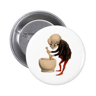 Skeletal Pharmacy Pinback Button