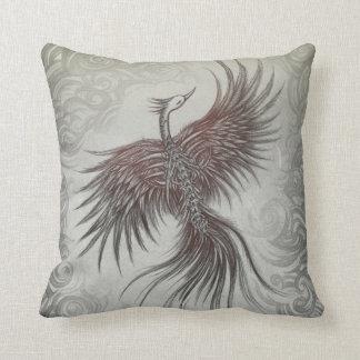 Skeletal Phoenix Pillow