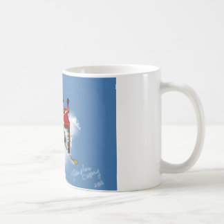 Skeletal Snow Boarder Coffee Mug