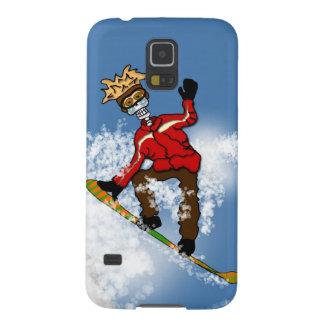 Skeletal Snow Boarder Galaxy S5 Cases