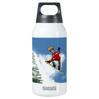 Skeletal Snow Boarder 10 Oz Insulated SIGG Thermos Water Bottle