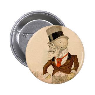 Skeletal Suit 2 Inch Round Button