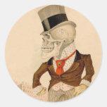Skeletal Suit Classic Round Sticker