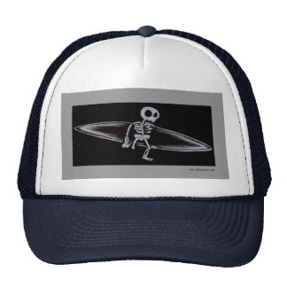 Skeletal Surfer Amputee Cap Hats