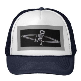 Skeletal Surfer Amputee Cap Trucker Hat