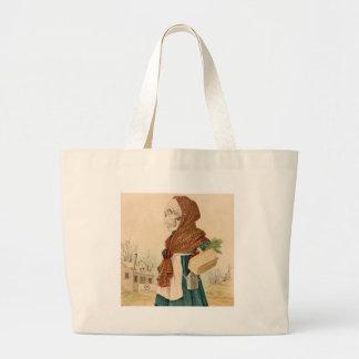 Skeletal Vegetable Lady Large Tote Bag