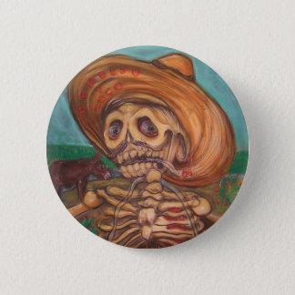 skeleto con accordion y burro pinback button