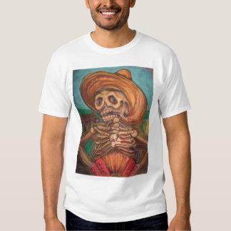 skeleto con accordion y burro shirt