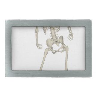 Skeleton #7 rectangular belt buckle