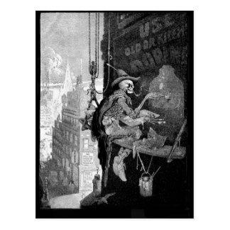 Skeleton Advertising postcard