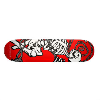 Skeleton and Barbed Wire Skateboard