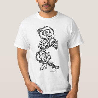 Skeleton and Barbed Wire T-shirt