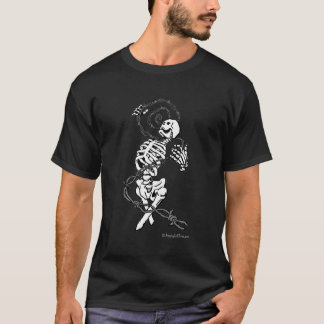 Skeleton and Barbed Wire Tattoo T-shirt
