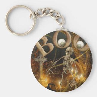 Skeleton and Grave Halloween Keychain